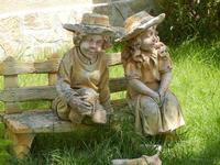 BAGLIO NOVO - coppietta in ceramica in giardino - 15 agosto 2011  - Fulgatore (1154 clic)