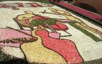 Infiorata 2010 - Bozzetti ispirati al tema: Musica dipinta: le forme e i colori della musica - OMAGGIO A MARK KOSTABI - Via Nicolaci - 16 maggio 2010      - Noto (2469 clic)