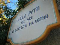 Villa Patti - insegna - 5 dicembre 2010 CALTAGIRONE LIDIA NAVARRA