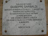 Castello Arabo Normanno - lapide commemorativa - 9 gennaio 2011  - Salemi (1210 clic)
