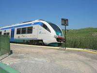 arriva un treno in stazione - 1 maggio 2010  - Segesta (2012 clic)