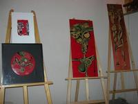 1ª Mostra personale del pittore Carmelo Morreale - ROSSO DISTRATTO - Festival degli Artisti a cura del Gruppo Archeologico Xaipe - 12 agosto 2010  - Salemi (7150 clic)
