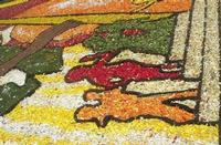 Infiorata 2010 - Bozzetti ispirati al tema: Musica dipinta: le forme e i colori della musica - LA MAGIA DEL BLUES - particolare - Via Nicolaci - 16 maggio 2010   - Noto (2548 clic)