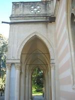 Villa Patti - porticato all'ingresso - 5 dicembre 2010 CALTAGIRONE LIDIA NAVARRA