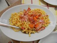 BAGLIO NOVO - primo: busiate alla zucca e pancetta - 15 agosto 2011  - Fulgatore (1361 clic)