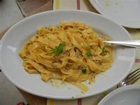 BAGLIO NOVO - primo: fettuccine al tartufo - 15 agosto 2011  - Fulgatore (1687 clic)