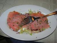 carpaccio di salmone - Caravella - 14 novembre 2010  - Alcamo marina (2175 clic)