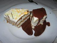 torta alla ricotta e parfait di mandorle - pranzo Festa degli Auguri Enel - L'Agorà di Segesta - 20 dicembre 2009   - Segesta (5911 clic)