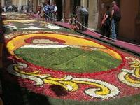 Infiorata 2010 - Bozzetti ispirati al tema: Musica dipinta: le forme e i colori della musica - SUONATORE DI FLAUTO - Via Nicolaci - 16 maggio 2010   - Noto (2642 clic)