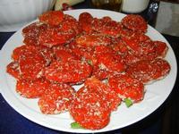 Miriam prepara i pomodori secchi ripieni - 28 agosto 2011  - Alcamo marina (977 clic)