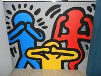 TRILOGIA D'AUTORE - omaggio a Keith Haring (1958 - 1990) - a cura del prof. Giuseppe Monticciolo ed alcuni suoi alunni - I.C. G. Pascoli - 10 giugno 2011  - Castellammare del golfo (841 clic)