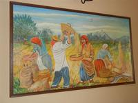 dipinto sulla mietitura di Giuseppe Di Salvo - Lu Saracinu - 21 agosto 2011  - Sambuca di sicilia (1176 clic)