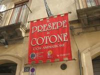 Il Presepe in Cotone - insegna - 4 dicembre 2010 CALTAGIRONE LIDIA NAVARRA