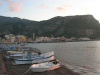 dal porto, panorama del borgo e del Monte Erice - 14 marzo 2010   - Bonagia (2136 clic)