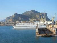 a bordo della nave La Superba - Grandi Navi Veloci - entrata in porto - Monte Pellegrino - 21 ottobr