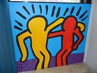 TRILOGIA D'AUTORE - omaggio a Keith Haring (1958 - 1990) - a cura del prof. Giuseppe Monticciolo ed alcuni suoi alunni - I.C. G. Pascoli - 10 giugno 2011  - Castellammare del golfo (788 clic)