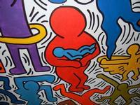 TRILOGIA D'AUTORE - TUTTO MONDO (particolare) - omaggio a Keith Haring (1958 - 1990) - a cura del prof. Giuseppe Monticciolo ed alcuni suoi alunni - I.C. G. Pascoli - 10 giugno 2011  - Castellammare del golfo (876 clic)