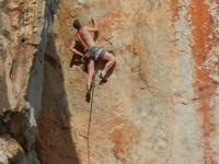 free climbing - falesia all'Isulidda - 1 maggio 2011  - Macari (1423 clic)