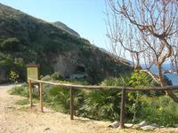 l'ingresso. lato sud, della Riserva - 3 aprile 2011  - Riserva dello zingaro (710 clic)