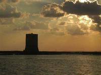 Torre di Nubia e tramonto alle saline - 13 novembre 2011  - Nubia (862 clic)