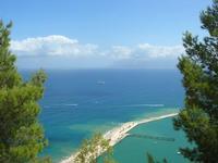 panorama del Golfo di Castellammare dal Belvedere - 29 agosto 2010  - Castellammare del golfo (1239 clic)