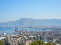 panorama della città e del porto dal Monte Pellegrino - 8 agosto 2011 PALERMO LIDIA NAVARRA