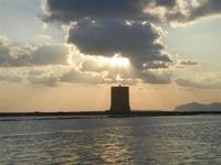 Torre di Nubia e tramonto alle saline - 13 novembre 2011  - Nubia (693 clic)