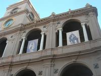Palazzo VII Aprile - particolare - per la ricorrenza del 150° Anniversario dello Sbarco dei Mille (11 maggio 2010) - 9 maggio 2010   - Marsala (2188 clic)