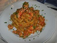 fettuccine con scampi e gamberetti - La Cambusa - 16 ottobre 2010  - Castellammare del golfo (1907 clic)