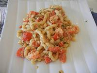 busiate con uova di pesce San Pietro, gamberetti e pomodori - La Cambusa - 30 ottobre 2011  - Castellammare del golfo (731 clic)