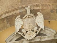 la Cattedrale Metropolitana della Santa Vergine Maria Assunta - facciata laterale: stemma - 8 agosto