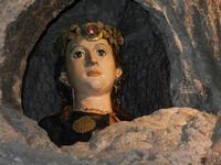 Santuario di Santa Rosalia sul Monte Pellegrino - la grotta - particolare - Rosalia, figlia del duca