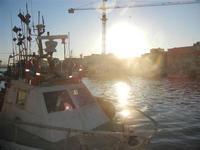 tramonto sul porto - 6 novembre 2011  - Mazara del vallo (769 clic)