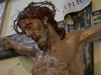 Santuario di Santa Rosalia sul Monte Pellegrino - interno - particolare Crocifisso - 8 agosto 2011 P