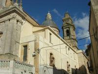 facciata laterale, cupola e campanile della Chiesa Santa Maria del Monte - 4 dicembre 2010  - Caltagirone (1691 clic)