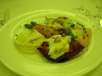antipasto: mazzancolle rucola e grana, polipo e patate, involtino di salmone e asparagi, insalata waldorf, pesce spada marinato - Parco Elimi - 26 giugno 2010  - Segesta (3360 clic)