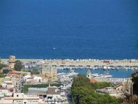 panorama della città dal Monte Pellegrino - quartiere Arenella e porto turistico - 8 agosto 2011 PAL