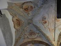 Santuario di Santa Rosalia sul Monte Pellegrino - interno - volta a crociera decorata - 8 agosto 201