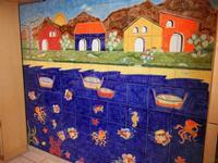 pannello di Nino Parrucca a casa di Miriam - 22 maggio 2011  - Bagheria (998 clic)