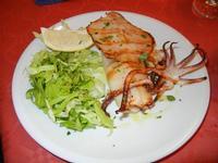 calamaro alla griglia ed insalata verde - Pizza e  Cassatelle - 24 luglio 2011  - Cornino (1615 clic)