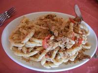 boscaiola: busiate, menta, melanzane, pomodorino - Pizze e Cassatele - 4 agosto 2011  - Cornino (1265 clic)