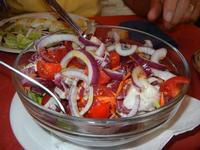 insalata mista con cipolla - Pizze e Cassatele - 4 agosto 2011  - Cornino (1166 clic)