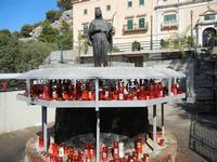 Santuario di Santa Rosalia sul Monte Pellegrino - la Santuzza e ceri votivi - 8 agosto 2011 PALERMO