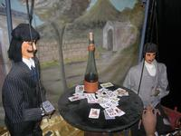 pupi siciliani e la partita a carte - 4 dicembre 2010 CALTAGIRONE LIDIA NAVARRA