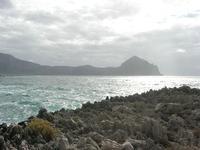 Golfo del Cofano - riflessi di sole sul mare - 26 settembre 2010  - Macari (2050 clic)
