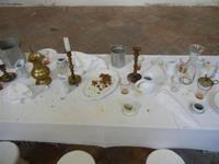 Oratorio di S. Lorenzo - tavola imbandita . . . a fine pasto - 8 agosto 2011 PALERMO LIDIA NAVARRA