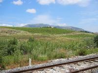 binario e panorama agreste dalla stazione ferroviaria - 2 giugno 2011  - Segesta (806 clic)