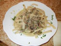 fettuccine con funghi porcini e punte di asparagi - Due Palme - 2 giugno 2011  - Santa ninfa (984 clic)