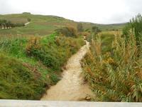 torrente dopo abbondanti piogge - 27 dicembre 2009 BUSETO PALIZZOLO LIDIA NAVARRA