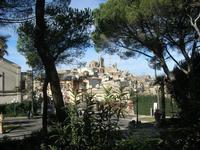 panorama della città dal Giardino Pubblico Vittorio Emanuele - 5 dicembre 2010  - Caltagirone (1420 clic)